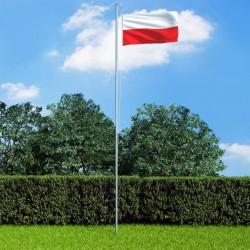 stradeXL Flaga Polski z aluminiowym masztem, 6,2 m