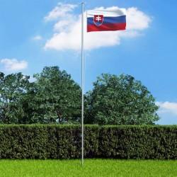 stradeXL Slovakia Flag and Pole Aluminium 6,2 m