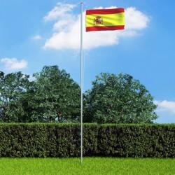 stradeXL Flaga Hiszpanii z aluminiowym masztem, 6,2 m