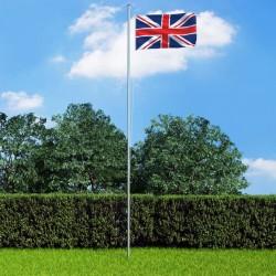 stradeXL Flaga Wielkiej Brytanii z aluminiowym masztem, 6,2 m