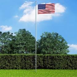 stradeXL Flaga USA z aluminiowym masztem, 6,2 m