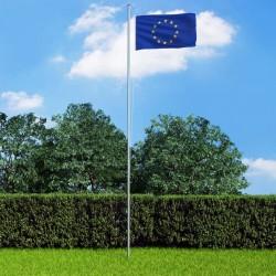stradeXL Flaga Europy z aluminiowym masztem, 6,2 m