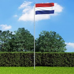 stradeXL Flaga Holandii z aluminiowym masztem, 6 m