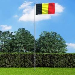 stradeXL Belgium Flag and Pole Aluminium 6 m