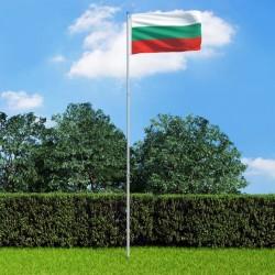 stradeXL Flaga Bułgarii z aluminiowym masztem, 6 m