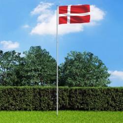 stradeXL Flaga Danii z aluminiowym masztem, 6 m