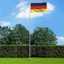 stradeXL Flaga Niemiec z aluminiowym masztem, 6 m