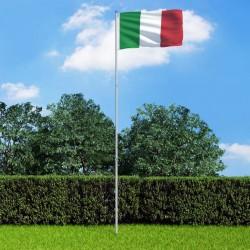 stradeXL Flaga Włoch z aluminiowym masztem, 6 m