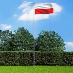 stradeXL Flaga Polski z aluminiowym masztem, 6 m