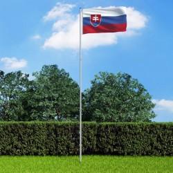 stradeXL Slovakia Flag and Pole Aluminium 6 m