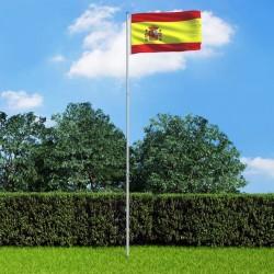 stradeXL Flaga Hiszpanii z aluminiowym masztem, 6 m