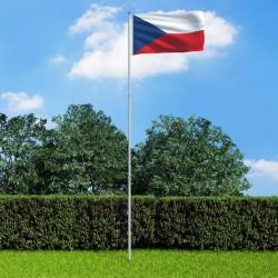 stradeXL Flaga Czech z aluminiowym masztem, 6 m