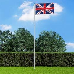 stradeXL Flaga Wielkiej Brytanii z aluminiowym masztem, 6 m