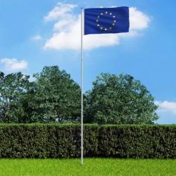 stradeXL Flaga Europy z aluminiowym masztem, 6 m