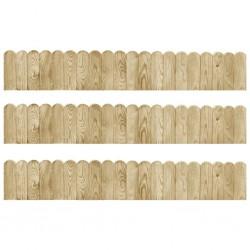 stradeXL Obrzeża ogrodowe, 3 szt., 120 cm, impregnowane drewno sosnowe