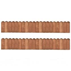 stradeXL Obrzeża ogrodowe, 2 szt., 120 cm, impregnowane drewno sosnowe