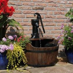 Ubbink Garden Water Feature Wooden Barrel