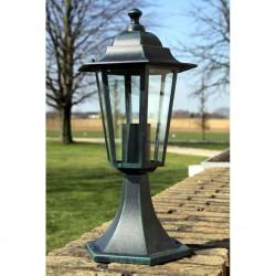 stradeXL Oświetlenie ogrodowe, ciemnozielone/czarne, aluminium