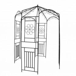 stradeXL Garden Arch 250 cm Black