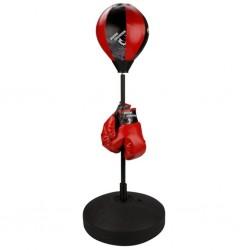 Avento Zestaw bokserski z gruszką dla dzieci czarno/czerwony 41 BE