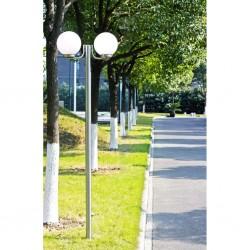 Lampa, latarnia ogrodowa, stojąca (220 cm) z dwoma kloszami