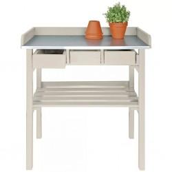 Esschert Design Ogrodowy stół roboczy biały CF29W
