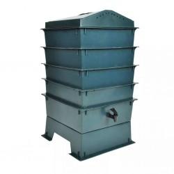 stradeXL 4-poziomowy kompostownik ekologiczny, 42x42x60 cm