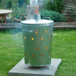 Nature Garden Incinerator Galvanised Steel 46x72 cm Round