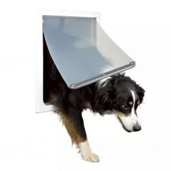 TRIXIE Drzwiczki dla psa z 2 formami zamknięcia M-XL 39x45 cm białe