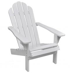 stradeXL Krzesło ogrodowe, drewniane, białe