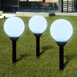 stradeXL Zewnętrzne lampy solarne LED w kształcie kuli, 20 cm, 3 szt.