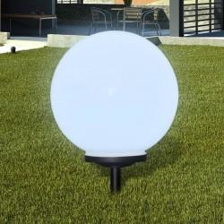 stradeXL Zewnętrzna lampa solarna LED, kula, 40 cm, 1 szt., z bolcem