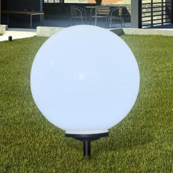 stradeXL Zewnętrzna lampa solarna LED, kula, 50 cm, 1 szt., z bolcem