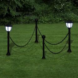 Lampki solarne LED na słupku, połączone łańcuchem, 2 szt.