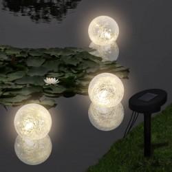 stradeXL Pływające lampy solarne LED do stawu, 3 sztuki