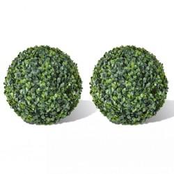stradeXL Boxwood Ball Artificial Leaf Topiary Ball 35 cm 2 pcs