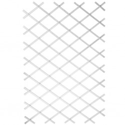 Nature Krata ogrodowa do pnączy, 50x150 cm, PVC, biała, 6040701