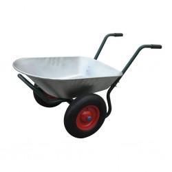 Gardening Tool Wheelbarrow Two Wheels 66 L