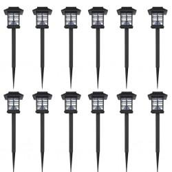 stradeXL Ogrodowe lampy solarne LED, 12 szt., ze szpikulcem 8,6x8,6x38 cm