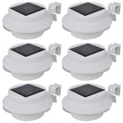 Lampy solarne, 6 sztuk, białe