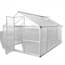 stradeXL Reinforced Aluminium Greenhouse with Base Frame 7.55 m²