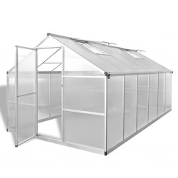 stradeXL Reinforced Aluminium Greenhouse with Base Frame 9.025 m²
