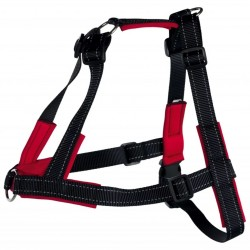 TRIXIE uprząż Lead'n'Walk Soft rozmiar M-L 55-90 cm Czarny 13056