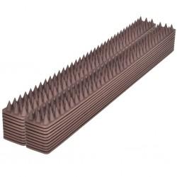 stradeXL Listwa z kolcami na ptaki, 49 x 4,5 x 1,7 cm, 20 sztuk