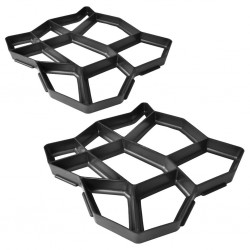 Forma do produkcji płyty chodnikowej 42 x 42 x 4 cm zestaw x 2