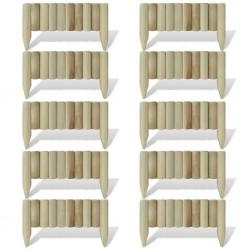stradeXL Obrzeże drewniane, 10 paneli, drewno, 60 cm