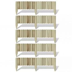 stradeXL Obrzeże drewniane, 5 paneli, drewno, 120 cm