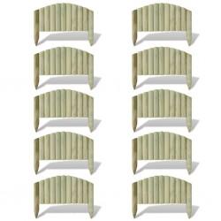 stradeXL Obrzeże drewniane, 10 paneli, drewno, 55 cm