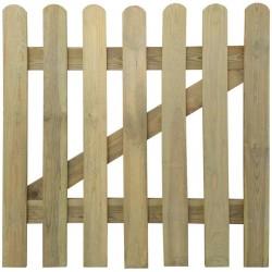 stradeXL Bramka ogrodowa, drewno, 100 x 100 cm