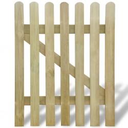 stradeXL Furtka ogrodowa, drewno, 100 x 120 cm